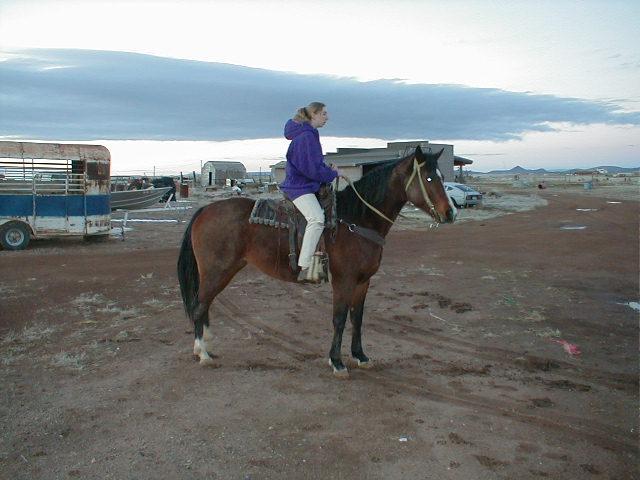 Fawn Fields, horseback